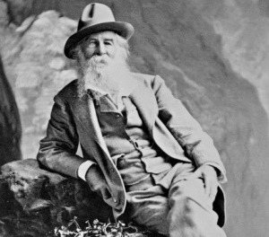 Portrait of author Walt Whitman